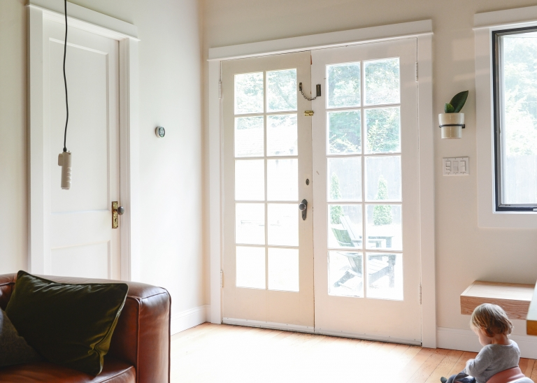 painting our french doors black