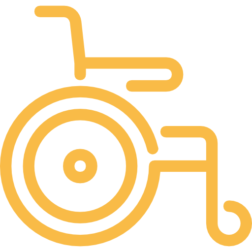 yellow wheelchair strong back chairs our services cab broward accessible