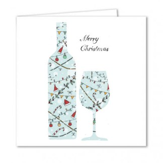 Merry Christmas Wine Card