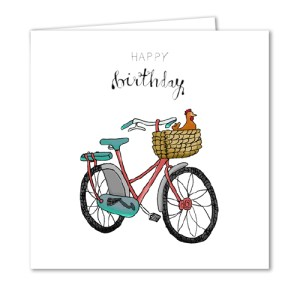 Bicycle with a Chicken