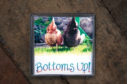 Bottoms Up Chicken Magnet