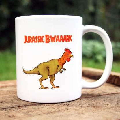 Dinosaur chicken mug
