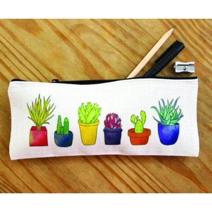 Succulents Pencil Case