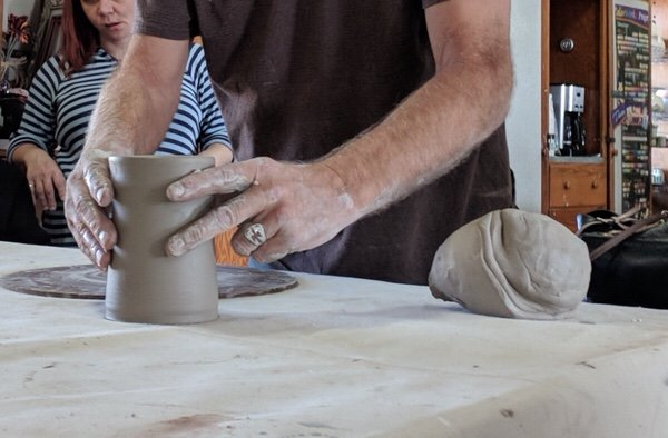 A great Friday afternoon- Pottery Workshop with Peter