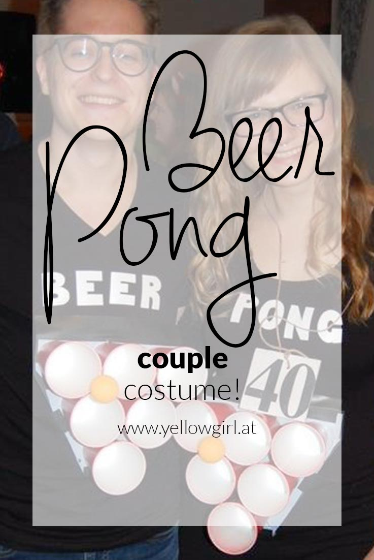 DIY Couple Beer Pong Costume