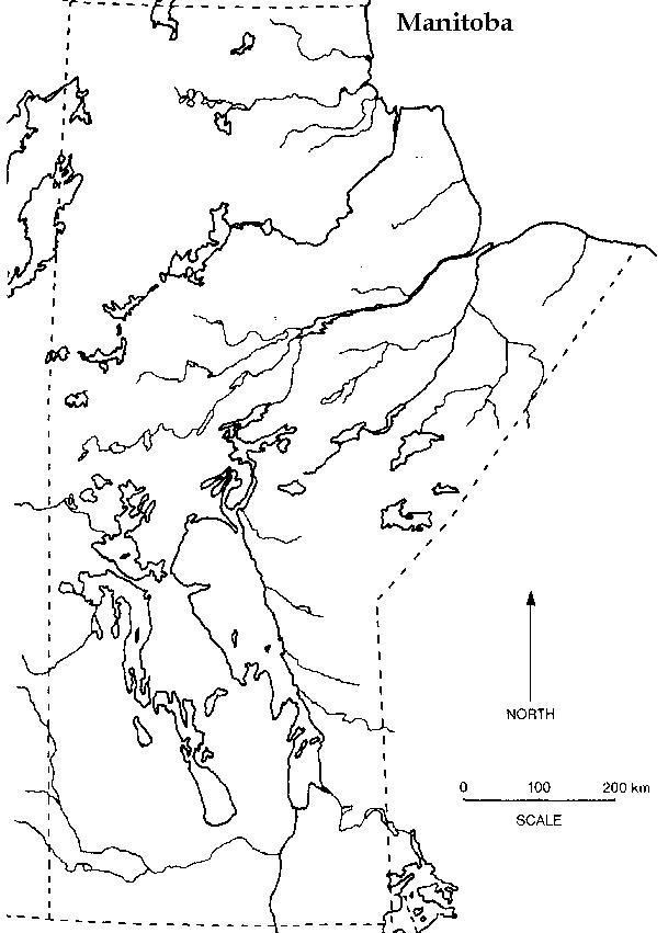 empty canada map