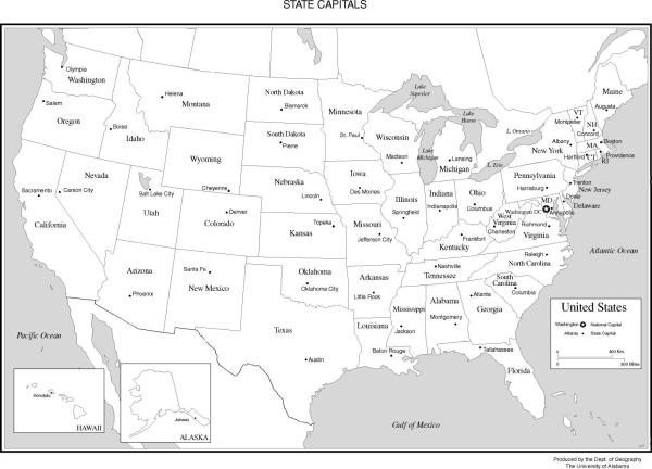 Free Printable Us Maps With States And Cities www