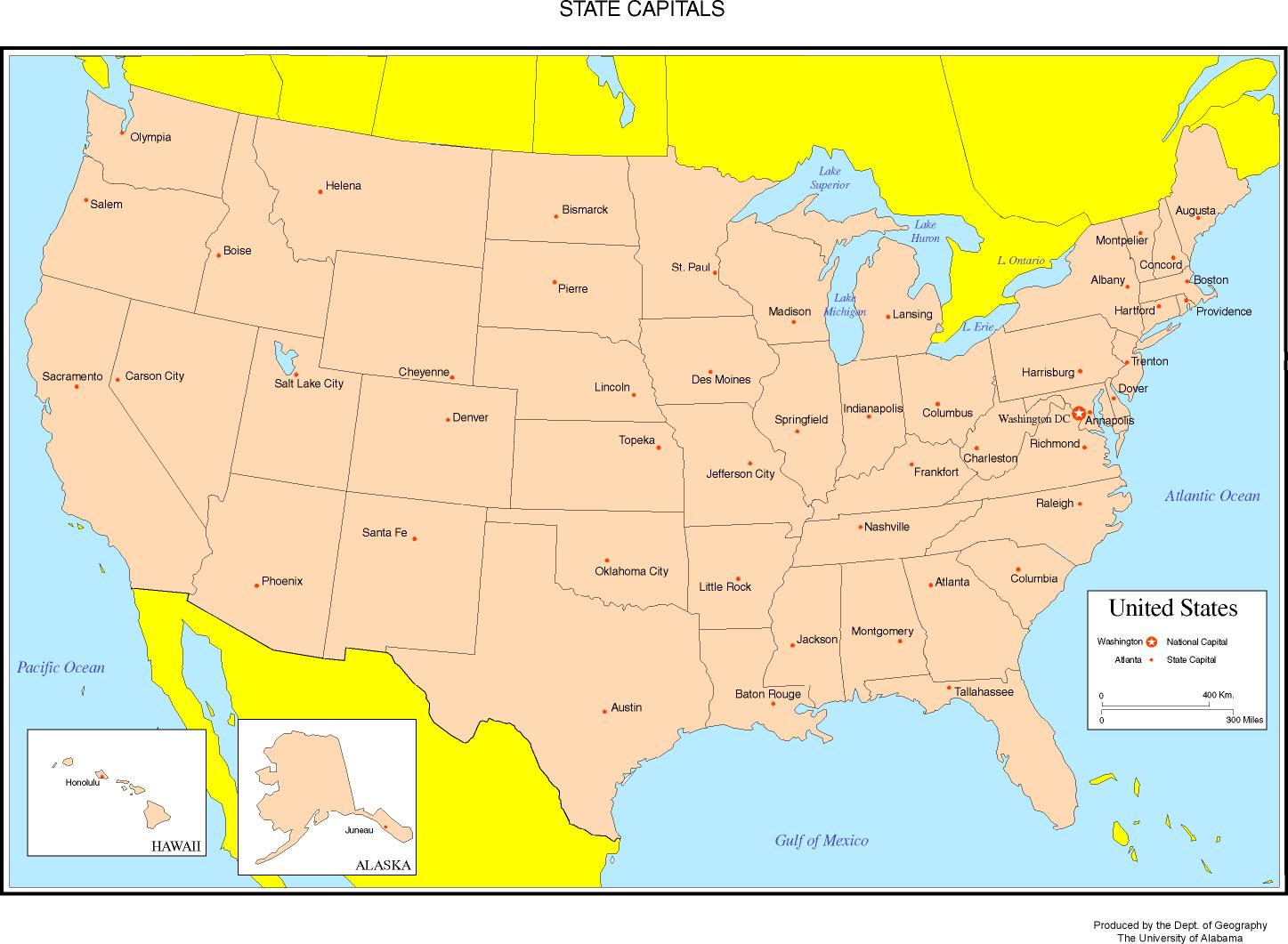Blank United States Map With State Names