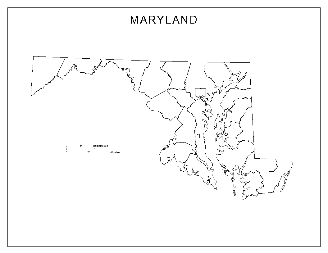 Maryland Blank Map