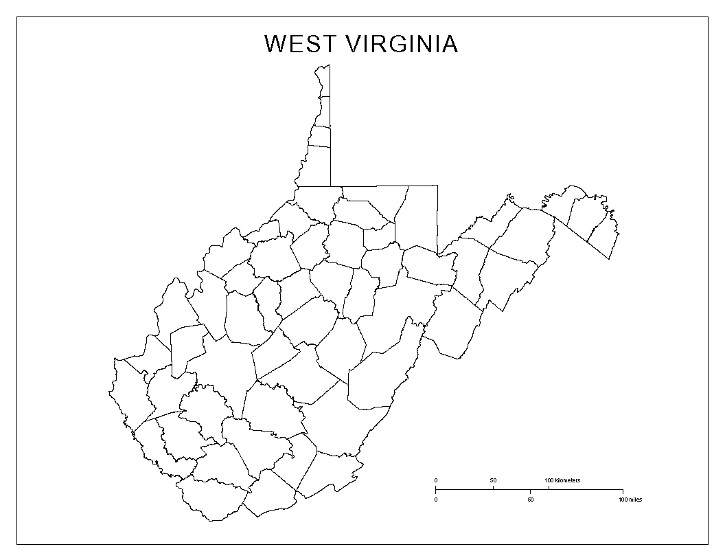 West Virginia Blank Map