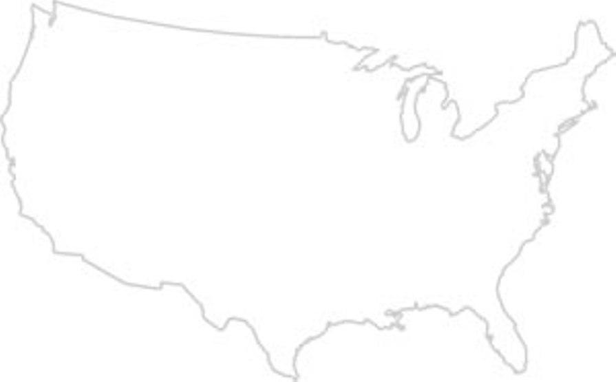 Us Map States Blank