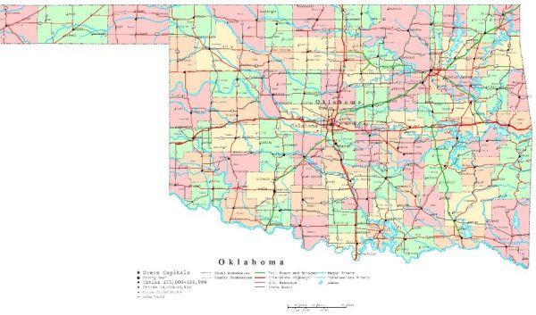Oklahoma Printable Map
