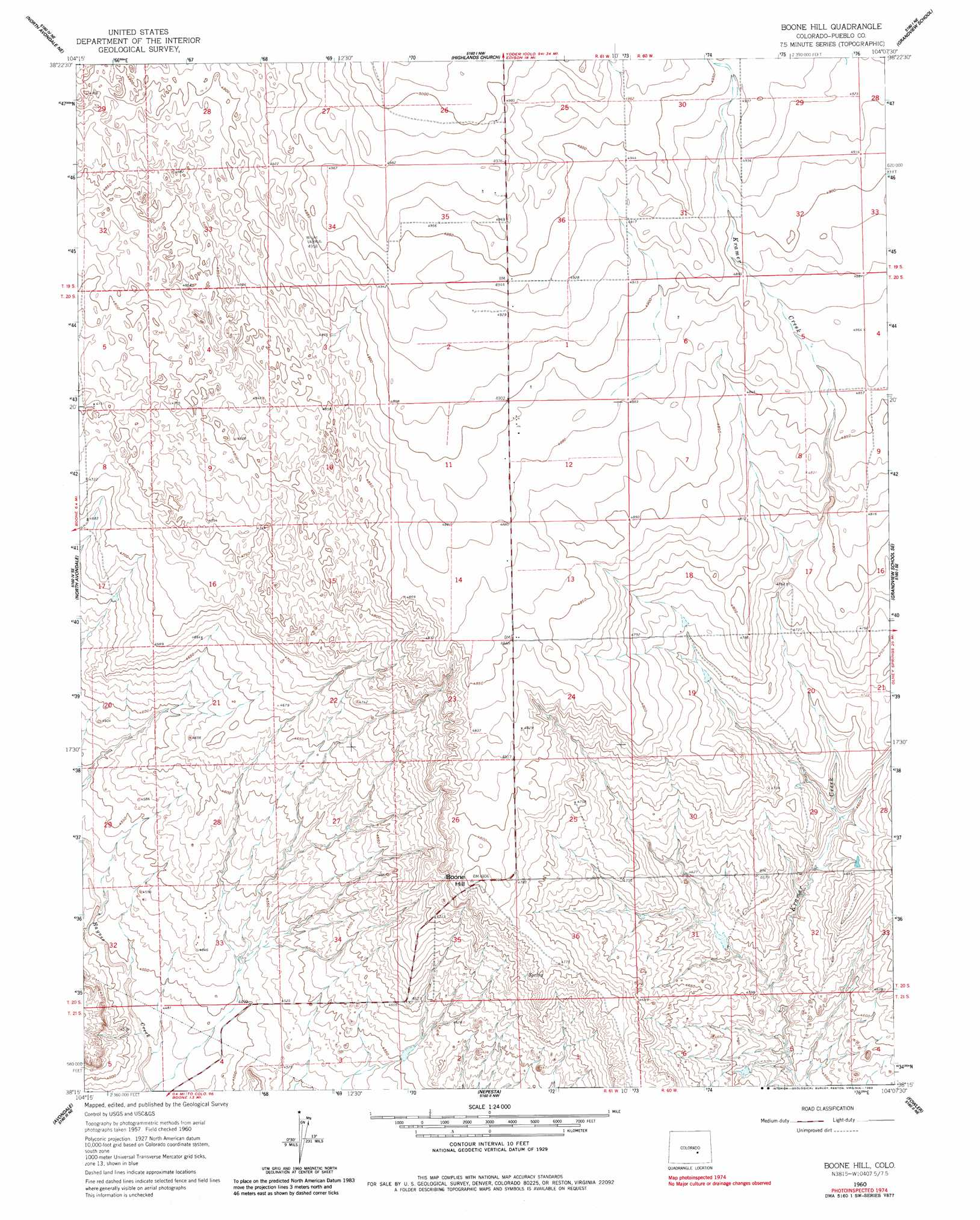 Boone Hill Topographic Map Co