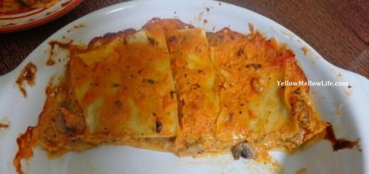 Tomato cream lasagna
