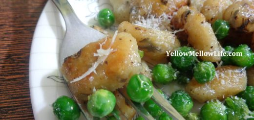 Homemade Gnocchi with Peas