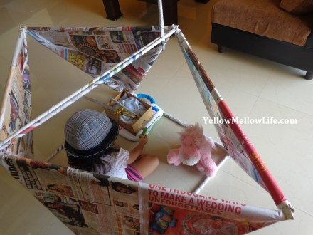 newspaper pirate ship play activity for kids