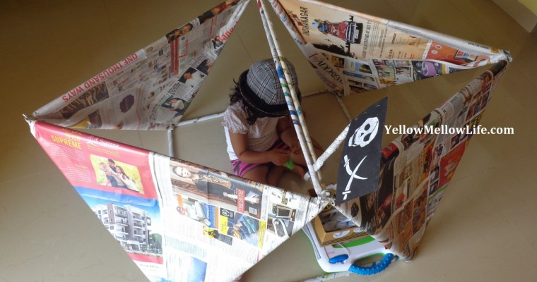 Pirate Ship Out Of the Cheapest Material Ever (Psst. It's Newspaper)