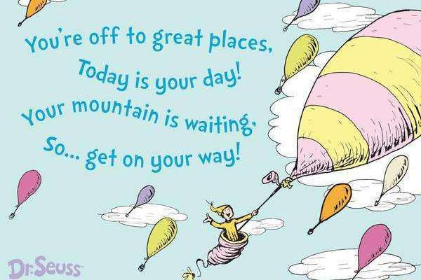 More love for Dr.Seuss – Oh, the Places You'll Go! book review
