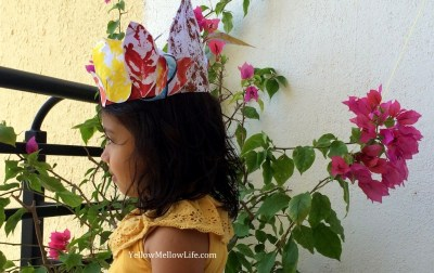 Autumn leaf crown activity for kids