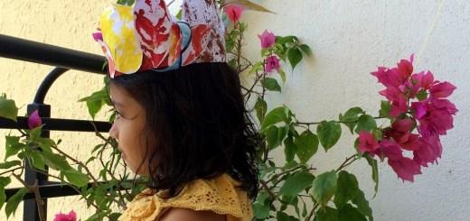 Autumn leaf crown activity for kids