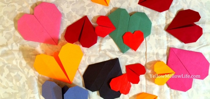 Valentine's Day Origami Hearts For Fathers