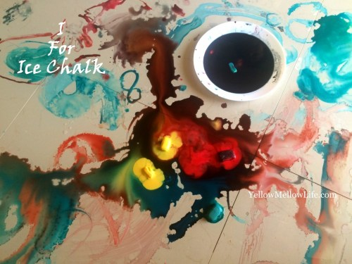sizzling ice chalk activity