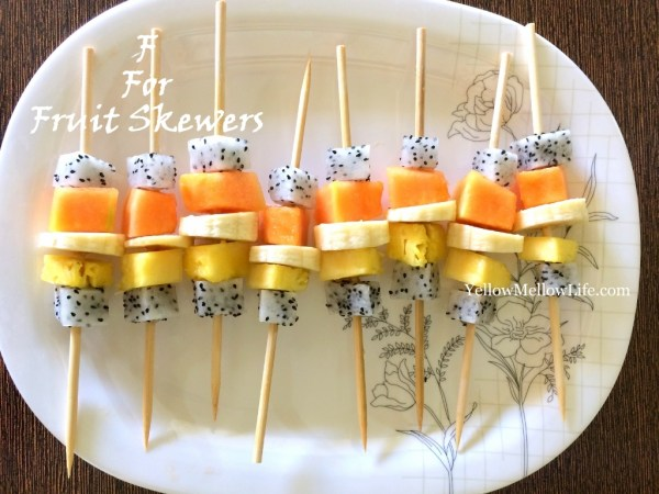 chilled fruit skewers summer snack