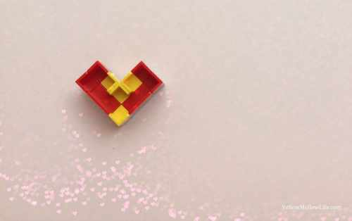 Valentines day lego hearts