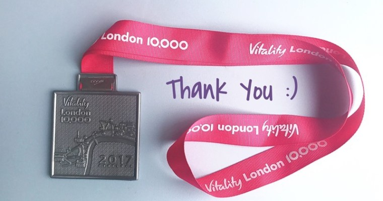 7 Things I am Thankful For – Vitality London 10000 Special
