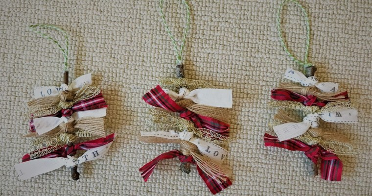 Twig and Ribbon Tree Christmas Ornament | #25DaysofOrnaments | Christmas Project 2017