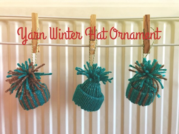 Yarn Winter Hat Christmas Ornament