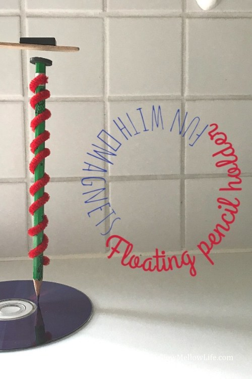 floating pencil holder STEM experiment