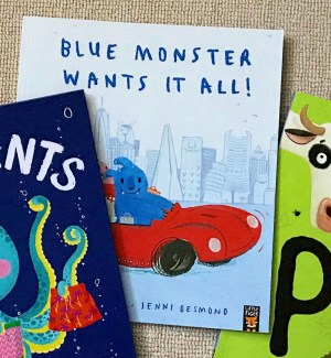 Blue Monster Wants it All Little Tiger Picture Books