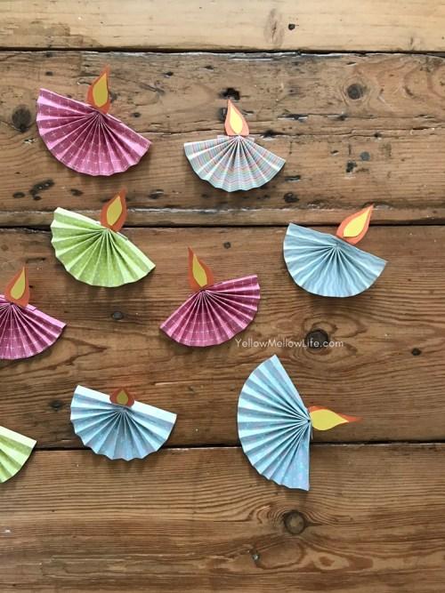 paper diya diwali craft for kids
