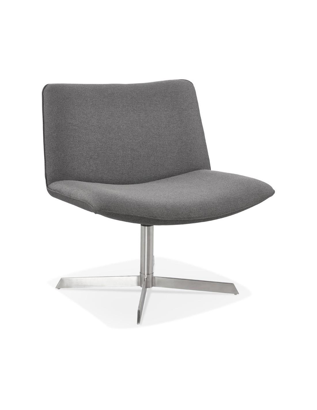chaise vintage lassie tissu couleur principale gris fonce
