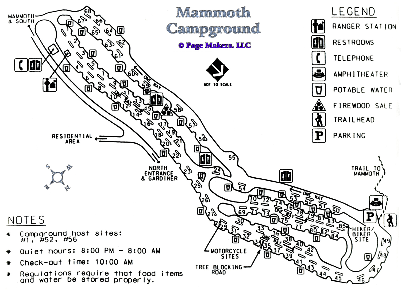 Madison Campground Yellowstone Map