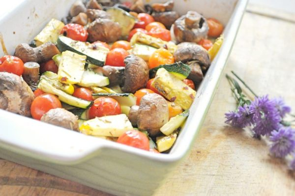 Baked Veggies with italian herbs