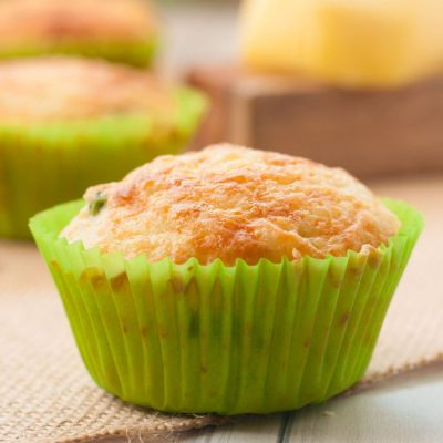 Eggless Cheese Muffins