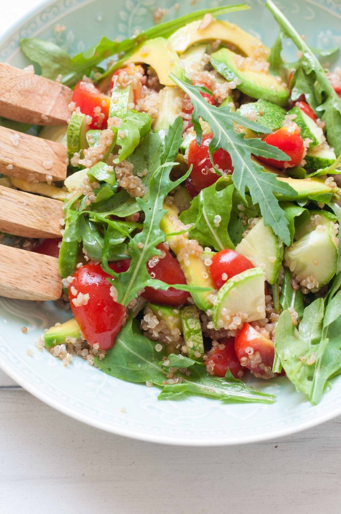 Avocado and quinoa balsamic salad