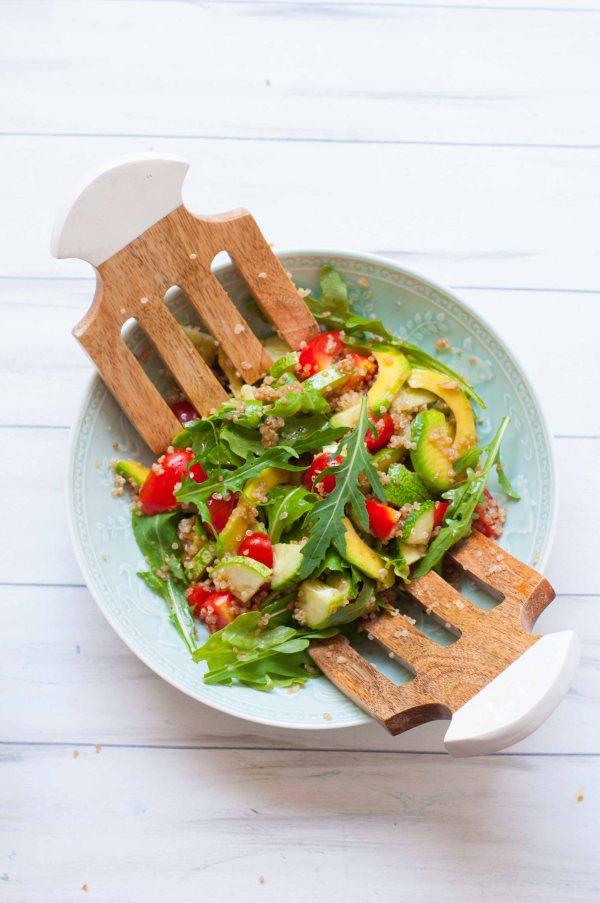 Avocado and quinoa balsamic salad