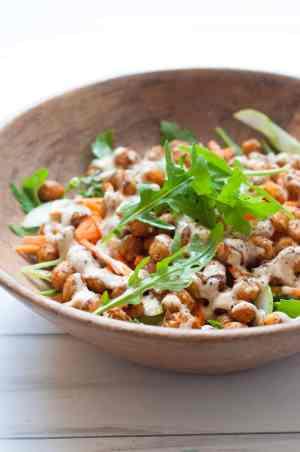 Power packed Chickpeas Tahini Salad