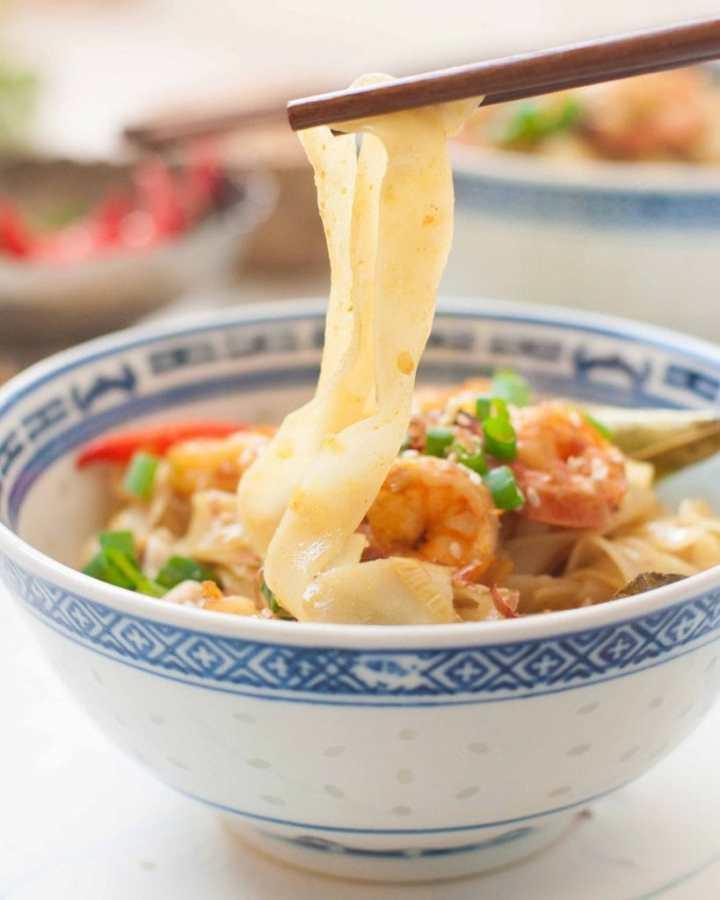 Thai Coconut Shrimp Noodles