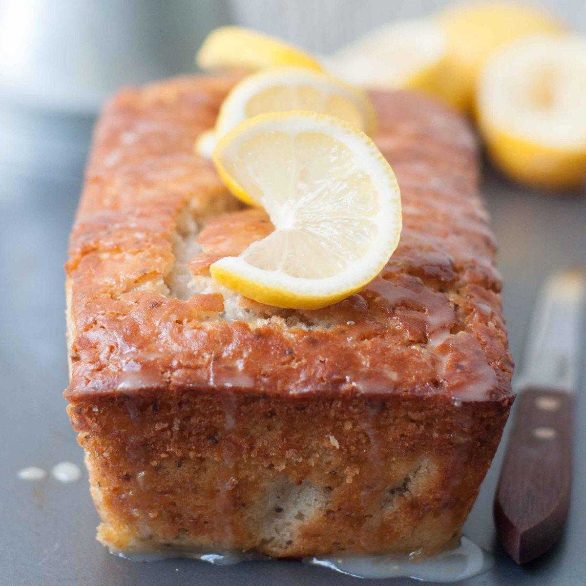 Eggless Lemon Chia Seed Cake