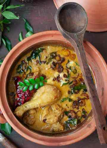 Kerala Chicken Curry - Nadan Kozhi Curry -Made with Coconut Milk & Indian Spices