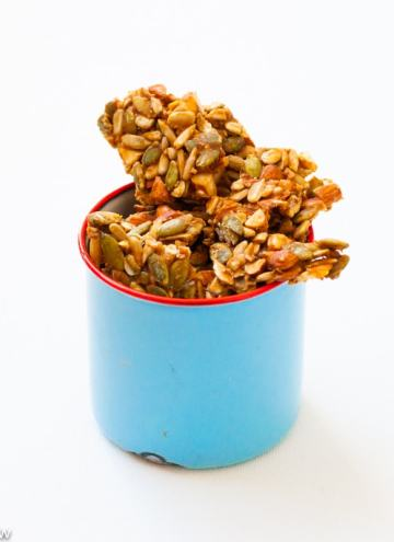 Seeds & Nuts Chikkior Brittle with healthy Sunflower & Pumpkin Seeds,Nuts and Palm Sugar or Jaggery.Delicious, easy to make healthy snack.