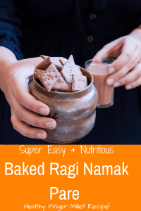 Baked Ragi Namak Pare - Easy to make, crunchy and tasty , healthy Baked Indian Savory Snack made with nutrient rich finger millet. #ragi #fingermillet #millet #healthy #indian #indianrecipe #namakpaare #namkeen #indiansnacks #ragirecipe #milletrecipe