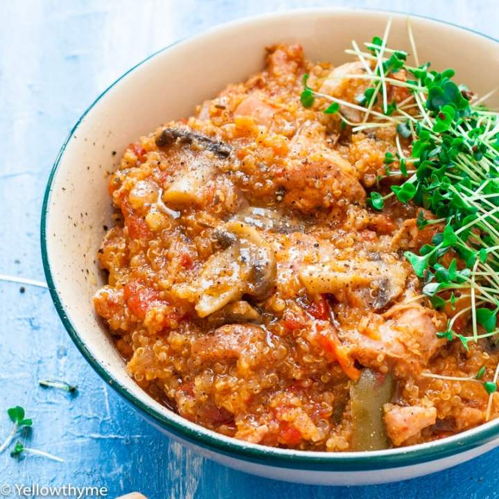 Mushroom & Chicken Quinoa Bowl_ Instant Pot & Pressure Cooker Recipe
