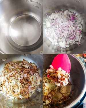 making of Shrimp pulao