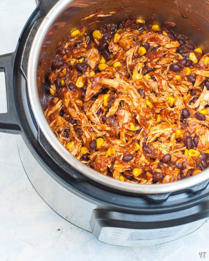 Instant Pot Salsa Chicken with beans and corn