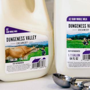 dungeness raw milk